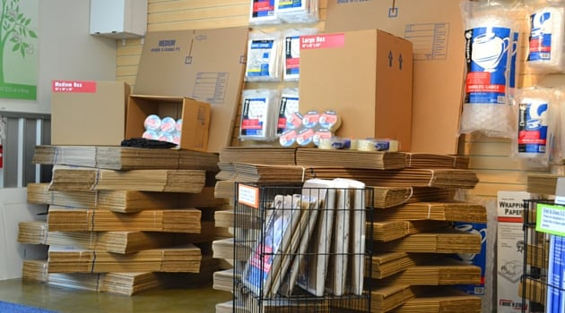 AAA Camano Heated Storage has boxes and moving supplies