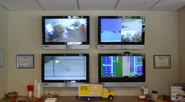 Video monitoring of storage facility