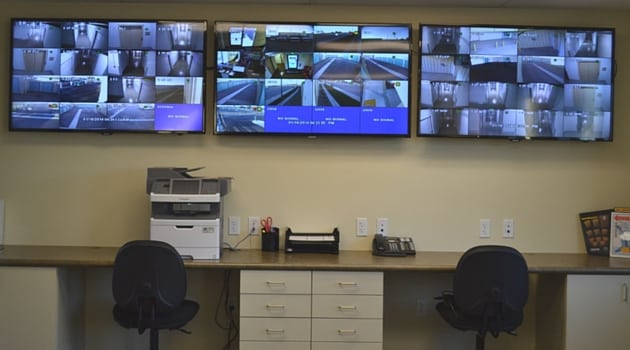 Security monitoring station of our Oxnard storage facility