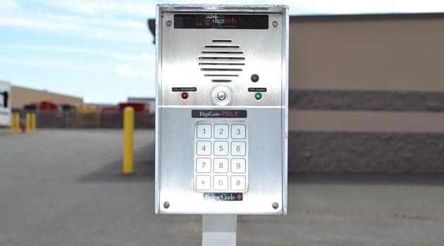 North Plains digital entry keypad to enter storage facility