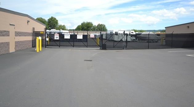 Secure gate access to our storage facility