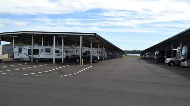 Covered RV and boat storage in North Plains