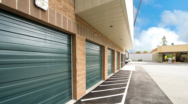 Drive up access storage units at Red Way Self-Storage Redmond