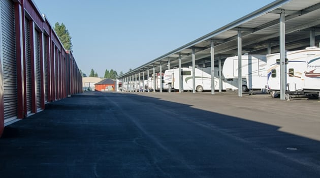 Covered RV storage at our Sherwood facility