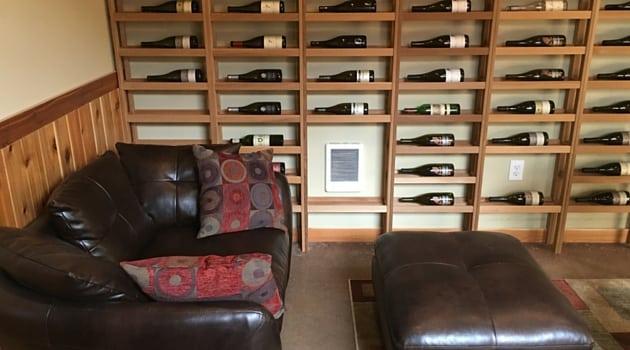Wine storage tasting room area in Sherwood