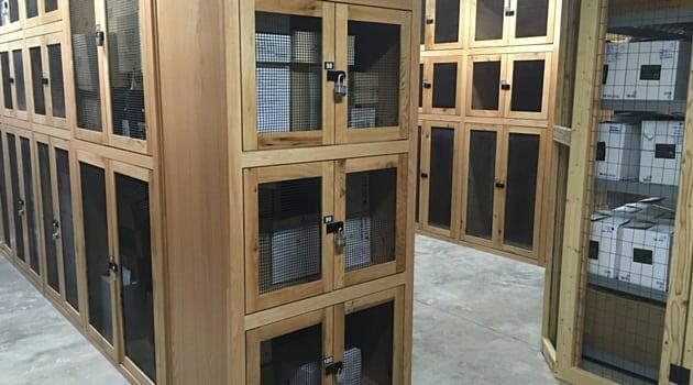 Sherwood wine storage locakers at Sentinel Self-Storage