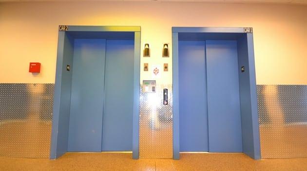 Large elevators at our Lynnwood, WA self storage facility