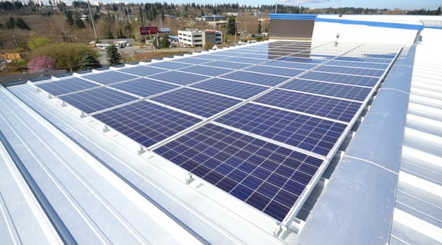 Sound Storage Lynnwood thinking green solar panels
