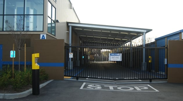 Secure gate access to Costa Mesa storage units