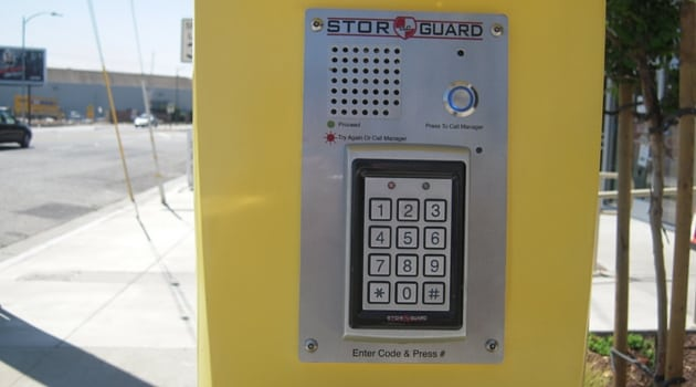 Digital security access to storage facility