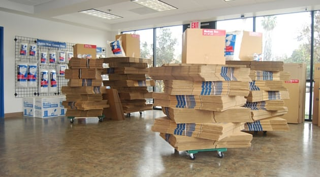 Moving boxes at our San Pedro storage location