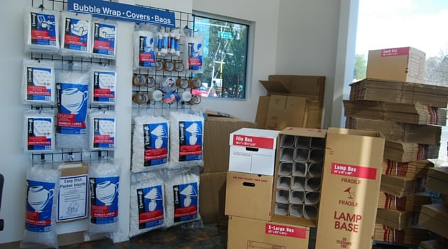 West Coast Self-Storage Santa Clara carries moving boxes and supplies
