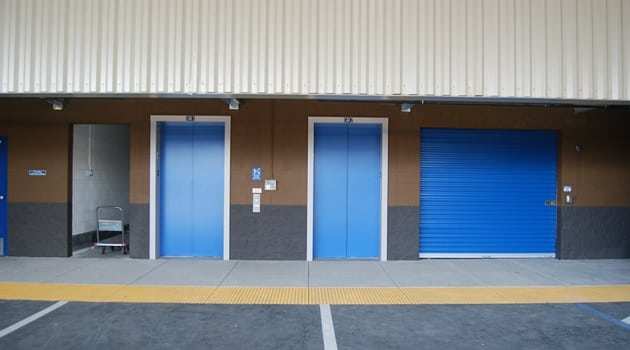 Easy elevator access to storage units