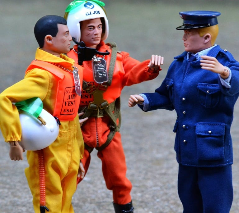 three gi joes talking