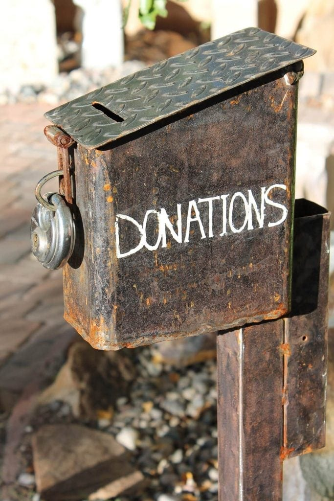 Old donations box