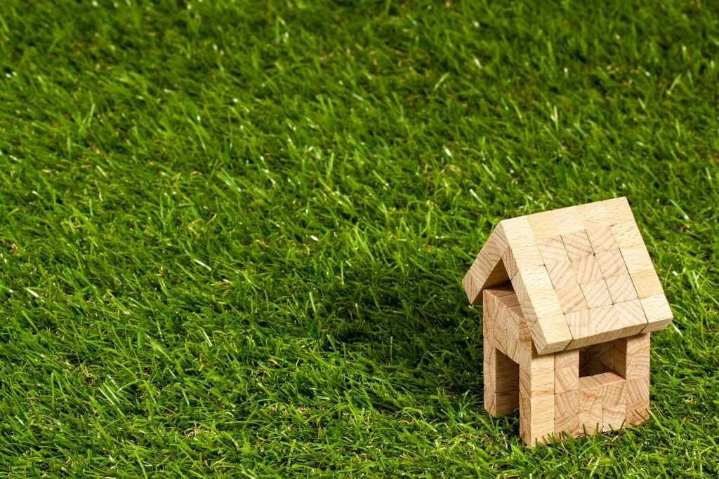 small house on grass