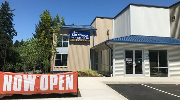 Entrance West Coast Self-Storage Beaverton
