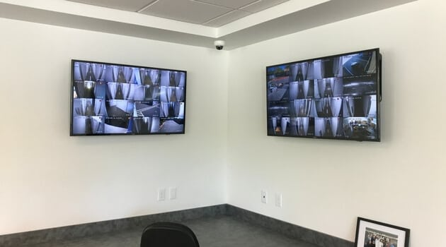 Digital security cameras at West Coast Self-Storage Beaverton