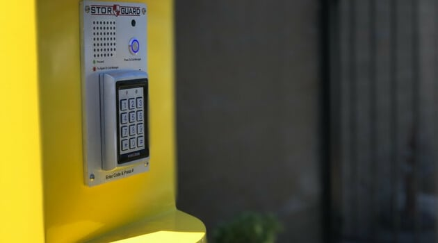 Secure pin code access to facility