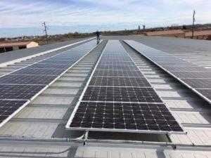 Renewable solar energy at Broadmoor Storage Solutions