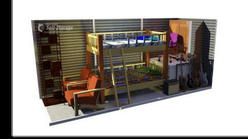 5' x 15' storage unit