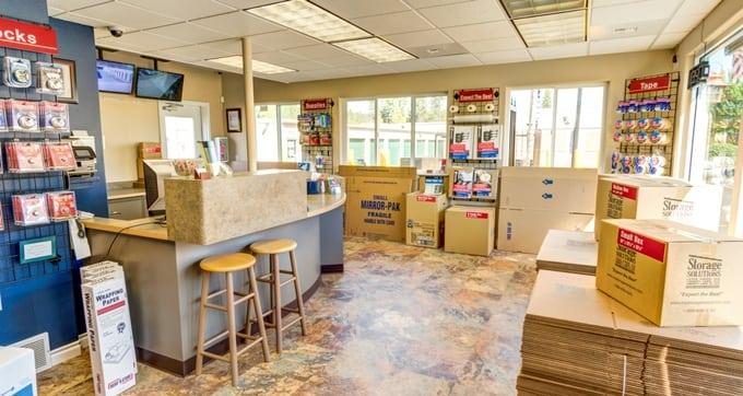 Storage rental office at Storage Solutions Spokane