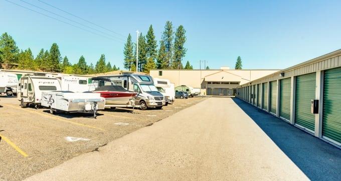 RV storage spaces at Storage Solutions in Spokane, WA