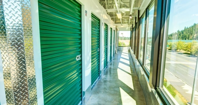 Heated storage units at Storage Solutions Spokane