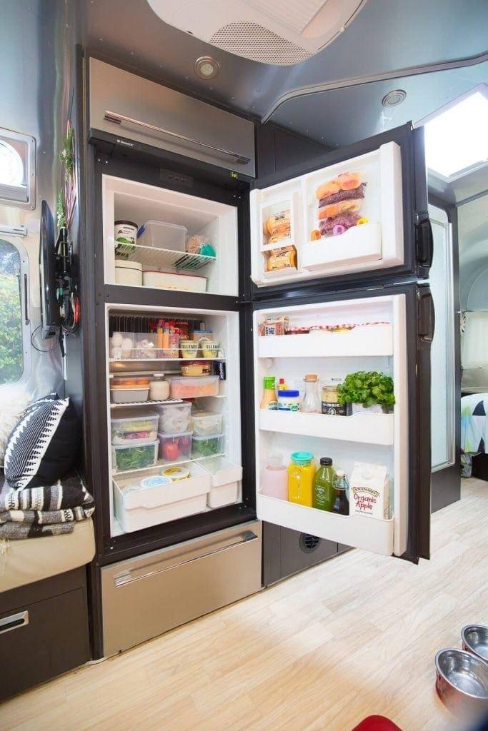 open rv fridge