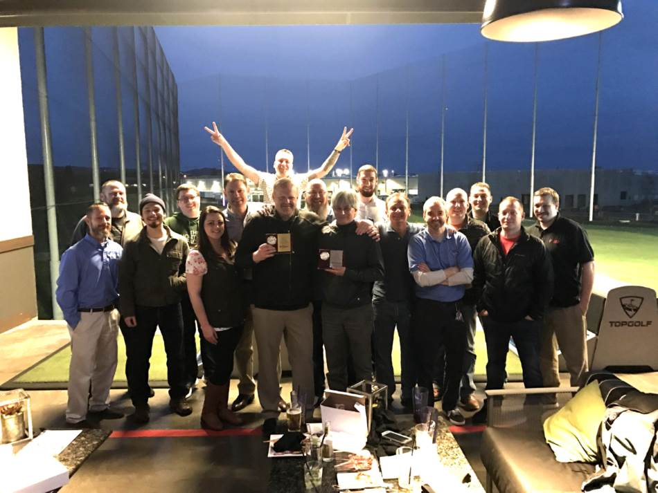 employees of West Coast Self-Storage at Top Golf
