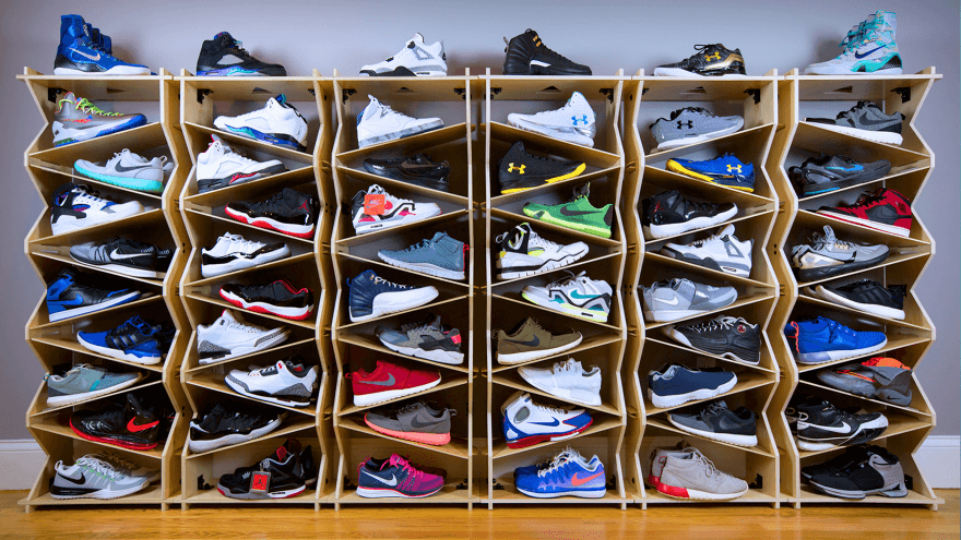 Sneaker Collection Display - Courtesy-Sole Stacks