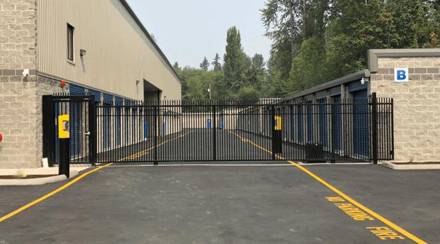View Pointe Self Storage entry gate