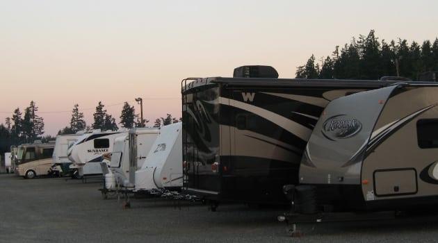 RV's parked at Maple Valley Mini Storage