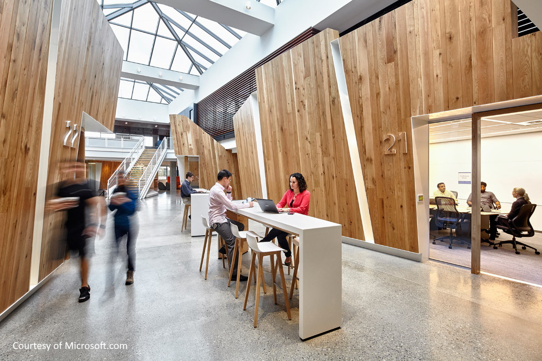Interior Hallway at Microsoft Building 16