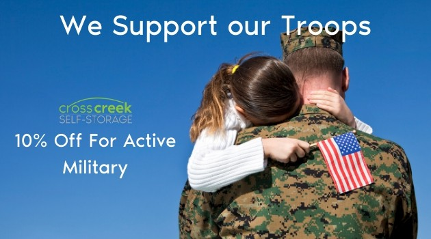 We support our military cross creek self storage silverdale washington