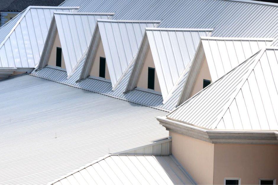 series of roof peaks