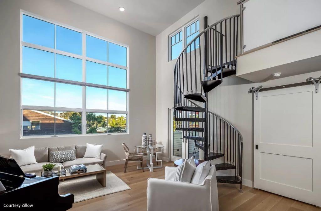 Living Room of home in Carlsbad Village, Carlsbad, California
