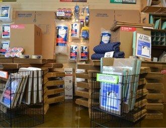 Moving boxes and packing supplies at AAA Camano Heated Storage, Camano Island, WA