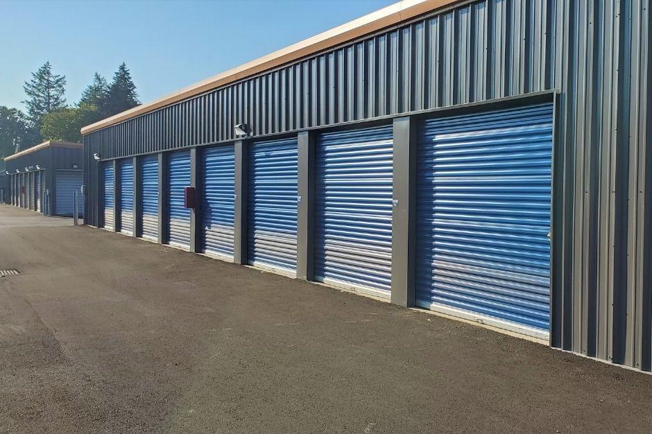row of storage units