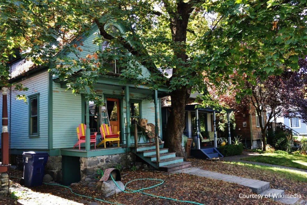 house in Peaceful Valley neighborhood of Spokane