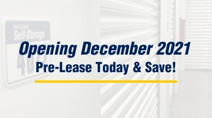 West Coast Self-Storage LAcey, WA opening December 2021